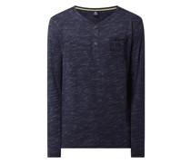Serafino-Shirt mit Allover-Muster