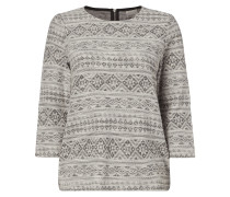 Sweatshirt mit Ethno-Muster