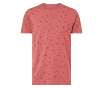 T-Shirt mit Allover-Muster Modell 'Lynch'
