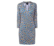 Kleid mit Dreiviertel-Ärmel und Allover-Muster