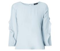 Blusenshirt aus Seide mit Kontrastrückseite