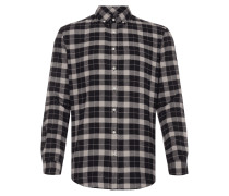 Flanellhemd mit Button-Down-Kragen