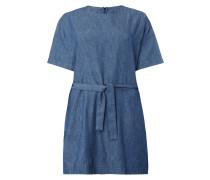 Kleid in Denimoptik mit Taillengürtel