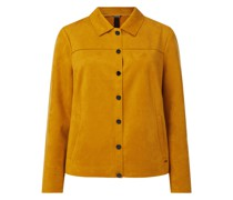 PLUS SIZE Blazer in Veloursleder-Optik