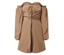 Lisa-Marie Schiffner x NA-KD Off-Shoulder-Kleid mit Viskose-Anteil