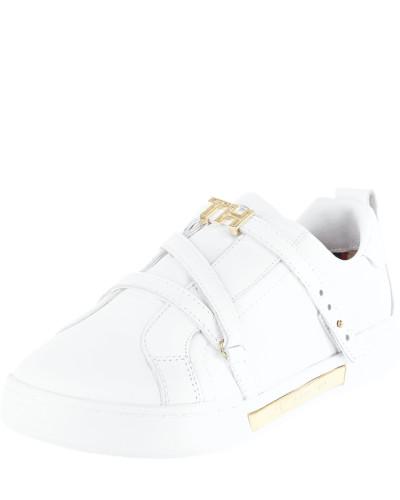 Sneaker aus Leder mit Pinschließe