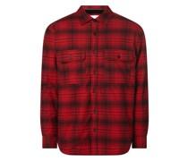 Relaxed Fit Hemdjacke aus Baumwolle