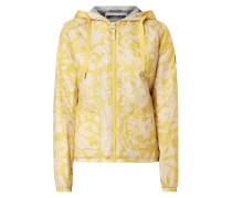 Jacke mit floralem Allover-Muster