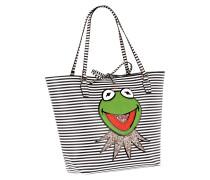 Shopper mit Kermit-Aufnäher