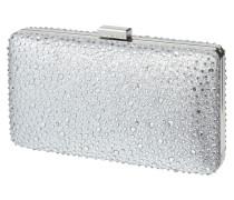 Box Clutch mit Glitter-Effekt und Ziersteinen
