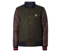 College-Jacke mit Ärmeln aus Schafsleder