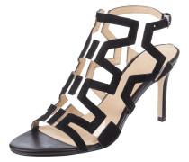 Sandalette aus Veloursleder mit Pfennigabsatz