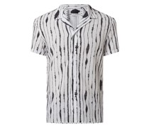 Regular Fit Leinenhemd mit kurzem Arm Modell 'Bijan'