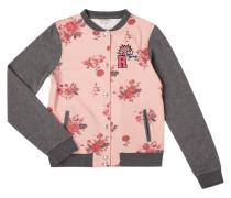 Bomber aus Sweat mit floralem Muster