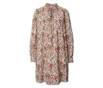 Knielanges Kleid mit Allover-Muster