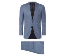 Slim Fit Anzug aus Schurwoll-Viskose-Mix Modell 'Novan/Ben'