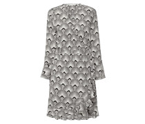 Wickelkleid mit Allover-Muster
