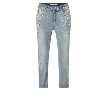 Relaxed Fit Jeans mit dekorativen Farbklecksen