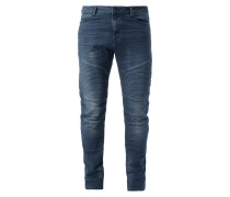 Skinny Fit 5-Pocket-Jeans im Biker-Look