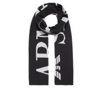 Doubleface Schal mit eingestricktem Logo