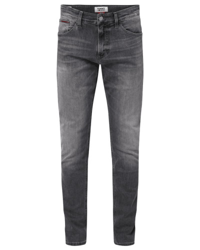 Slim Tapered Fit Jeans mit Label-Patch