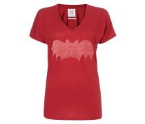 T-Shirt mit Fledermaus-Print