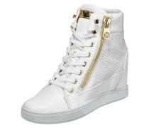 Sneaker Wedges mit Details in Metallicoptik