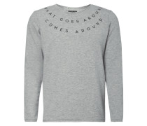 Sweatshirt mit gummiertem Message-Print