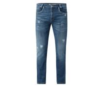 Modern Slim Fit Jeans mit Stretch-Anteil Modell 'Arne Pipe'