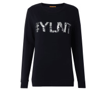 Sweatshirt mit Wording aus Wende-Pailletten