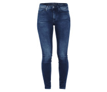 Stone Washed Skinny Fit 5-Pocket-Jeans