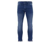 Skinny Fit Sweatjeans in Denimoptik