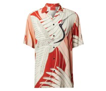 Straight Fit Freizeithemd mit Allover-Muster Modell 'Efab'