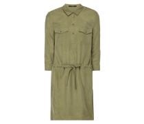 Blusenkleid mit geknöpften Pattentaschen