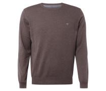 Pullover aus Baumwolle mit Logo-Stickerei
