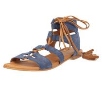 Sandalen aus Leder in Denimoptik