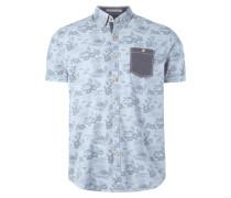 Freizeithemd mit Hawaii-Muster