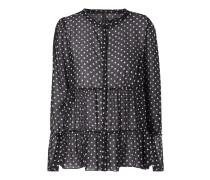 Bluse aus Seide mit Polka Dots