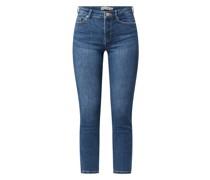 Cropped Slim Fit Jeans mit Stretch-Anteil Modell 'Lili'
