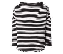 Boxy Fit Sweatshirt mit Streifenmuster
