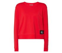 Boxy Fit Sweatshirt mit Logo-Aufnäher