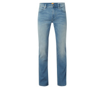 Stone Washed Slim Fit Sweatjeans