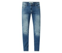 Skinny Fit Low Rise Jeans mit Stretch-Anteil Modell 'Miami'
