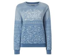 Sweatshirt im Washed Out Look mit Ornamenten