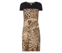 Shirtkleid mit Animal-Print