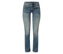 Straight Fit Jeans mit Knopfriegel