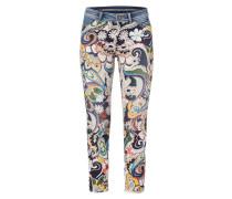Straight Fit Jeans mit ornamentalem Muster