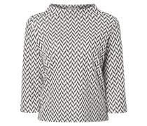 Sweatshirt mit strukturiertem Zickzack-Muster