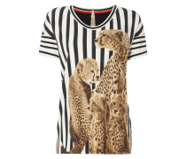 Shirt mit Streifenmuster und Foto-Print