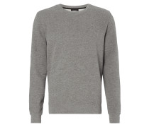 Sweatshirt in Melangeoptik